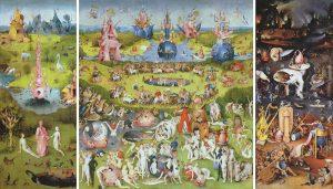 Hieronim Bosch, Ogród ziemskich rozkoszy, ok. 1500, Muzeum Prado w Hiszpanii