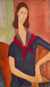 Amadeo Modigliani, Jeanne Hebuterne (au foulard), 1919, źródło: Sotheby's