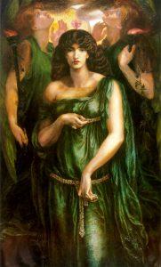 "Dante Gabriel Rossetti, ""Astarte Syriaca"", 1877"