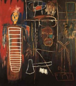"Jean Michel Basquiat, ""Air Power"", 1984, źródło: Sotheby's"