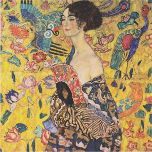 "Gustav Klimt, ""Lady with fan"", 1918"