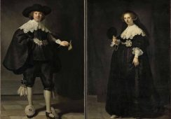 Słynne portrety małżeńskiej pary Rembrandta na ekspozycji w Amsterdamie
