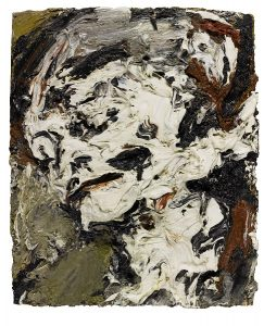"Frank Auerbach, ""Head of Gerda Boehm"", 1965, źródło: Sotheby's"