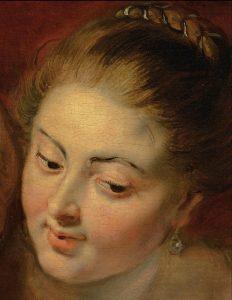 "Peter Paul Rubens, ""Lot z córkami"", detal, ok. 1613-14, źródło: Christie's"