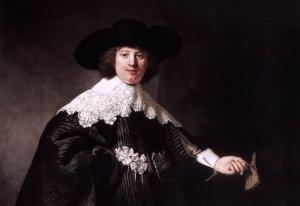 """Rembrandt van Rijn, """"Portrait of Marten Soolmans, 1634, detal"""