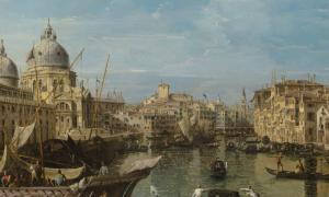 """Bernardo Belotto, """"Grande Canal w Wenecji"""", ok. 1745, źródło: Christie's"""