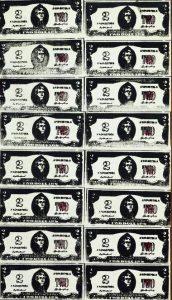 "Andy Warhol, ""Two dollars bills"", 1962, źródło: Christie's"