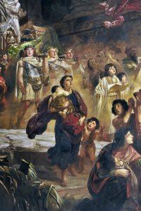 """Fragment dzieła """"Alaryk w Rzymie"""" Wilhelma von Lindenschmita po konserwacji, źródło: materiały prasowe"""