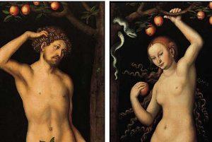 Lucas Cranach, Adam i Ewa, ok. 1530