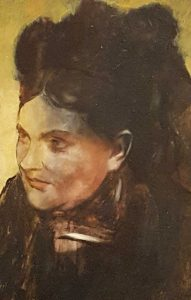 "Edgar Degas, ""Portret Kobiety"", 1876-1880, źródło: National Gallery of Victoria"