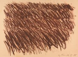 Cy Twobmly, Untitled, 1972, źródło Sotheby's