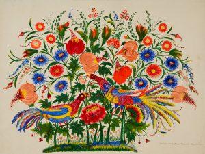 Malarstwo dekoracyjne z Petrykiwki, Ukraina C O.O. Shpak, with the permission of UNESCO