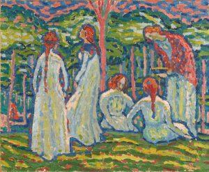 Max Pechstein, Dziewczęta, 1908, źródło: Bonhams
