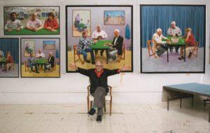 David Hockney w swojej pracowni, luty 2015