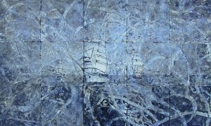Bogna Jarzemska-Misztalska, W drodze do ..., emalia na metalu,120x200 cm, 2016