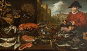 Hans Van Essen, Targ rybny, olej na płótnie, źródło: DESA Unicum