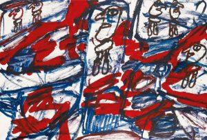 Jean Dubuffet, Site Aleatoire avec 6 Personnage, źródło: Sotheby's
