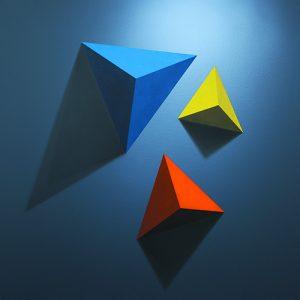 Marlena Lenart, Refleks I, akryl na płótnie, 90 x 90 cm, 2015