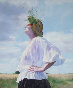 Marta Kunikowska-Mikulska, W śród pól, olej na płótnie, 120x100 cm, 2010