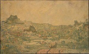 Hercules Seghers, Miasto z czterema wieżami, 1631