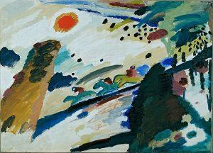 Wassily Kandinsky, Romantyczny krajobraz, 1911