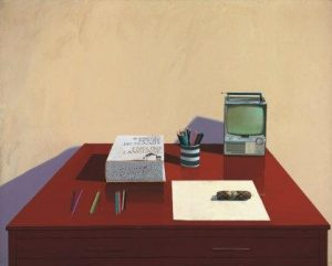 David Hockney, Still Life with T.V., 1969