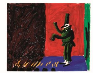 David Hockney, Punchinello with Applause, 1980