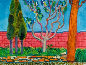 David Hockney, Guest House Wall, źródło: Sotheby's