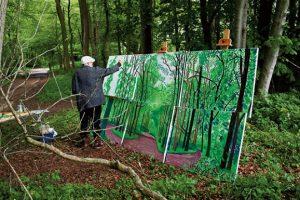 David Hockney malujący Woldgate Woods, 24, 25, and 26 October 2006, 2006, źródło: Sotheby's