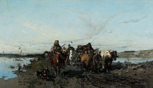 Józef Brandt, Tabor myśliwski w podróży, 1871 r.