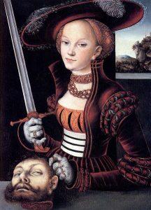Lucas Cranach Starszy, Judyta z głową Holofernesa, 1530
