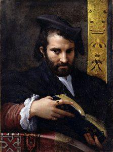 Parmigianino, Portret mężczyzny z książką, 1524