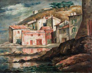 """Roman Kramsztyk """"Pejzaż z południa Francji"""" ok. 1920-22 (olej, płótno 73 x 91,5 cm)"""