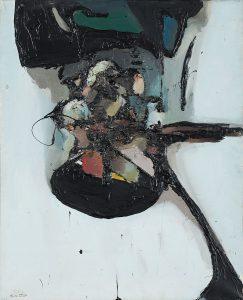 """""""Peinture"""" 1962 (tech. własna. płótno 100 x 81 cm)"""