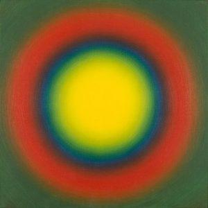 """Wojciech Fangor """"M5"""", 1966, (olej, płótno, 57,5 x 57,5 cm)"""
