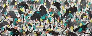 Wu Guanzhong, Lotus Pond, 1997, źródło: Poly Auction Hong Kong
