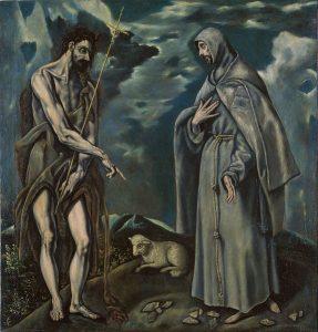 El Greco, Św. Jan Chrzciciel i św. Franciszek z Asyżu