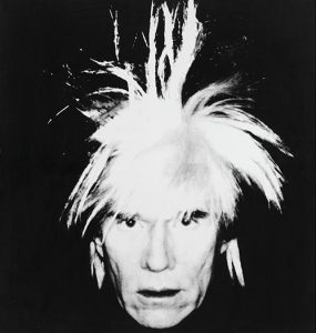 Andy Warhol, Self-Portrait (Fright Wig), 1986, źródło: Sotheby's