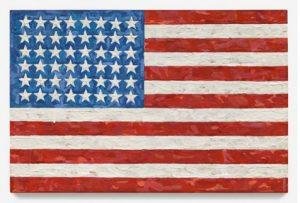 Jasper Johns, Flag, 1983, źródło: Sotheby's
