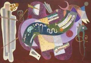 Wassily Kandinsky, Rigide et courbé, 1935, źródło: Christie's