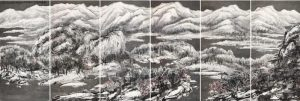 Cui Ruzhuo, The Grand Snowing Mountains, 2013, źródło: Poly Auction Hong Kong