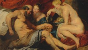 Pater Paul Rubens, Lot z córkami, 1613-1614, źródło: Christie's