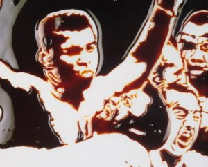 Vik Muniz,Muhammad Ali (cassius) (from pictures of chocolate), 2001, źródło: Sotheby's