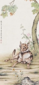 Ma Jin, Dog, 1938, źródło: Polly Auction Hong Kong