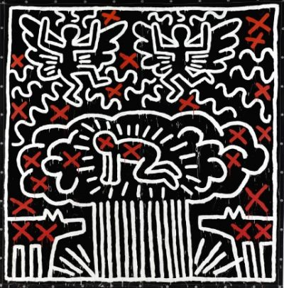 Keith Haring, Untitled, 1982, źródło: Sotheby's