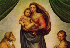 Grafika z Madonną Sykstyńską Rafaela odkryta w prowincjonalnym kościele