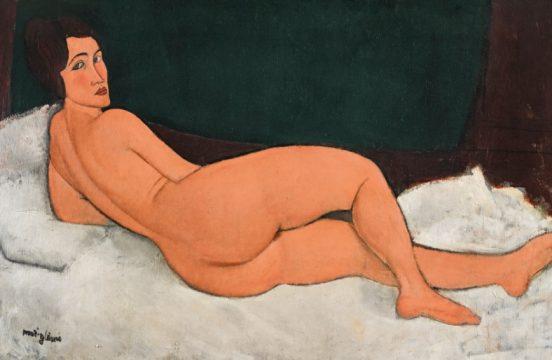 Amedeo Modigliani, Nu couche (sur le cote gauche), 1917, Sotheby's