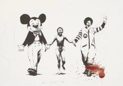 Grafika Banksy'ego skradziona podczas wystawy