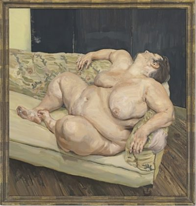 Lucien Freud, Benefits Supervisor Resting, 1994, Christie's