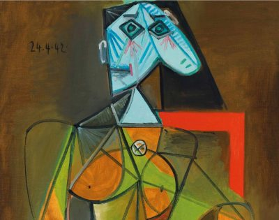 Pablo Picasso, Femme dans un fauteuil (Dora Maar), 1943, fragment, Christie's